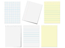 Pages of notebook Stock Photos