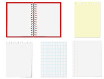 Pages of notebook Stock Images