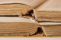 Pages of old books Royalty Free Stock Photo