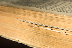 Pages of the old English-Russian dictionary. Close up royalty free stock photography