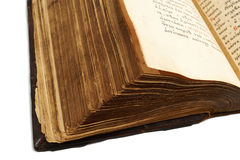 Pages of an old slavic book Stock Image