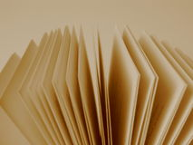 Pages of an Open Book. Close-up of pages of an open book stock photo
