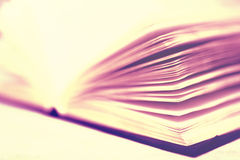 Pages of opened book, close up Royalty Free Stock Images