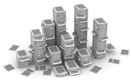 Pages paper stacks 3d isometry Royalty Free Stock Photo
