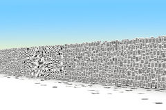 Pages paper  wall 3d isometry Stock Images