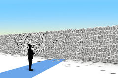 Pages paper  wall 3d isometry Royalty Free Stock Photos
