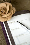 Pages of planner. Open on weekly plan Royalty Free Stock Photo