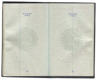 Pages pour des marques de visa dans le passeport turc Image libre de droits