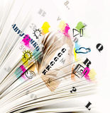 The pages with symbols Stock Photo