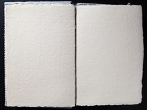 Pages vides de whith blanc de livre Image stock