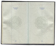 Pages for visa marks in the Turkish passport. Over white Royalty Free Stock Image