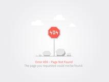 pagina 404 Fotografia Stock
