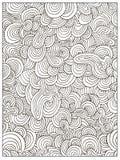 Pagina adulta del libro da colorare di scarabocchio dell'estratto difficile disegnato a mano del cerchio illustrazione vettoriale
