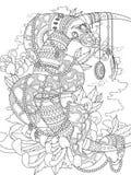 Pagina adulta di coloritura del serpente misterioso Fotografie Stock Libere da Diritti