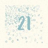 Pagina Advent Calendar 25 dagen van Kerstmis met ruimte voor tekst Royalty-vrije Stock Fotografie