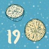 Pagina Advent Calendar 25 dagen van Kerstmis met ruimte voor tekst Stock Fotografie