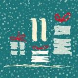 Pagina Advent Calendar 25 dagen van Kerstmis met ruimte voor tekst Stock Foto's