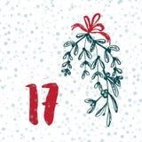 Pagina Advent Calendar 25 dagen van Kerstmis met ruimte voor tekst Royalty-vrije Stock Foto's