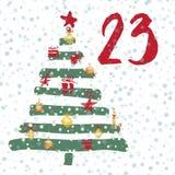 Pagina Advent Calendar 25 dagen van Kerstmis met ruimte voor tekst Royalty-vrije Stock Afbeelding