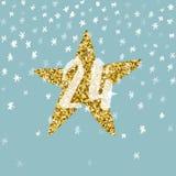 Pagina Advent Calendar 25 dagen van Kerstmis met ruimte voor tekst Royalty-vrije Stock Foto