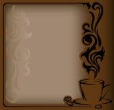 Pagina antica del caffè Immagine Stock