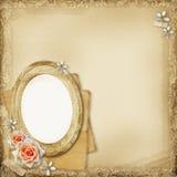 Pagina antica dell'album di foto royalty illustrazione gratis