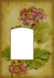 Pagina antica dell'album di foto Immagini Stock