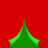 Pagina arricciata sotto forma di illustrazione dell'albero di Natale Immagini Stock