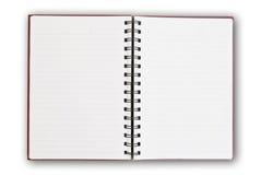 Pagina bianca sul bianco. Immagini Stock