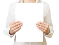 Pagina in bianco Immagine Stock Libera da Diritti