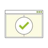 Pagina in bianco aperta della finestra di browser di Internet Immagine Stock