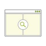 Pagina in bianco aperta della finestra di browser di Internet Fotografia Stock Libera da Diritti