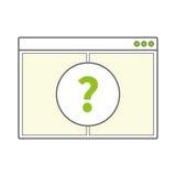 Pagina in bianco aperta della finestra di browser di Internet Immagine Stock Libera da Diritti