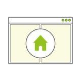 Pagina in bianco aperta della finestra di browser di Internet Fotografie Stock