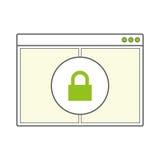 Pagina in bianco aperta della finestra di browser di Internet Immagini Stock