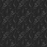 pagina botanica trasversale aborigena di arte 3D del bordo di carta scuro del dente di sega illustrazione vettoriale