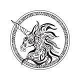 Pagina capa di coloritura dell'unicorno isolata illustrazione di stock