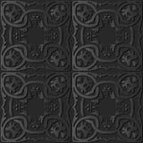 pagina a catena botanica P di arte 3D dell'incrocio a spirale rotondo di carta scuro della curva royalty illustrazione gratis