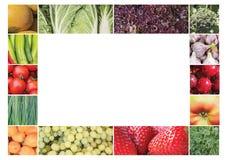 Pagina, collage dei prodotti vegetali Immagine Stock