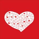 Pagina con cuore rosso valentine Fotografie Stock Libere da Diritti