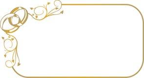 Pagina con gli anelli di cerimonia nuziale fotografia stock libera da diritti
