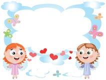 Pagina con gli angeli, CMYK royalty illustrazione gratis