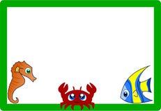 Pagina con gli animali marini Immagine Stock