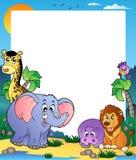 Pagina con gli animali tropicali 1 Fotografia Stock Libera da Diritti