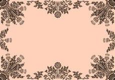 Pagina con gli elementi floreali royalty illustrazione gratis