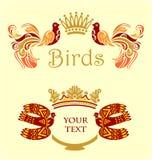 Pagina con gli uccelli Immagini Stock