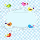 Pagina con gli uccelli sui collegare illustrazione vettoriale