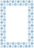 Pagina con i fiocchi di neve Fotografia Stock Libera da Diritti