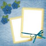 Pagina con i fiori Fotografia Stock