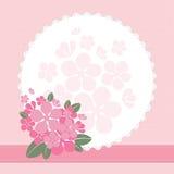 Pagina con i fiori Fotografie Stock